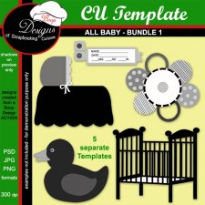 All Baby TEMPLATE BUNDLE 1 by Boop Designs