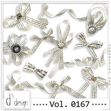 Vol. 0167 Vintage Ribbons Mix by Doudou Design