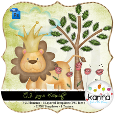 Lion King Layered Template by Peek a Boo Designs