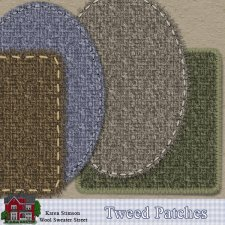 Tweed Patches by Karen Stimson