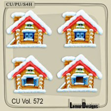 CU Vol 572 Houses Winter by Lemur Designs