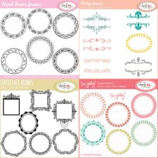 Digital frames clipart bundle