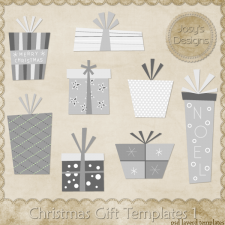 Christmas Gift Layered Templates 1 by Josy