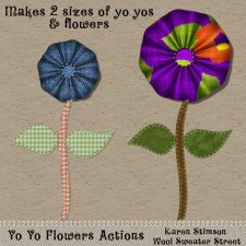 Yo Yo Flowers Actions by Karen Stimson