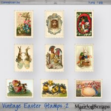 Vintage Easter Stamps 2 by Mandog Scraps