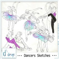 Dancers Sketches by Doudou's Design