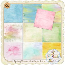 Spring Watercolor Paper Pack EXCLUSIVE by PapierStudio Silke
