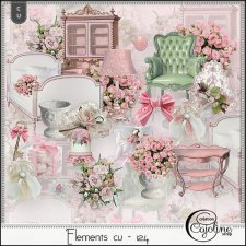 Elements CU - 124 Pink Rose by Cajoline-Scrap