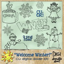 Welcome Winter - Winter themed - CU doodles