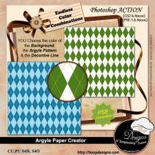 Argyle Paper Creator ACTION by Boop Designs