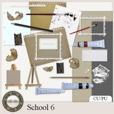 EXCLUSIVE School 6 mini kit by Happy Scrap Arts
