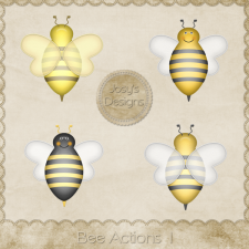 Bee Actions 1 by Josy