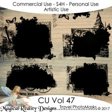 Travel PhotoMasks - CU Vol 47 by MagicalReality Designs