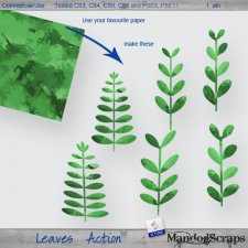 Leaves Action by Mandog Scraps