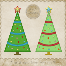 Christmas Tree Photoshop Action 7 by Josy