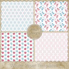 Winter Paper Layered Templates by Josy