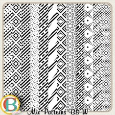 Mix Patterned Black and White by Benthaicreations