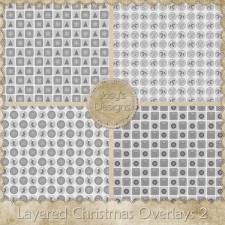 Layered Christmas Overlays 2 by Josy