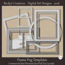 Mixed Frame Png Templates - Beckys Creations