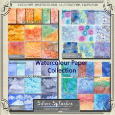 EXCLUSIVE Watercolour Paper Collection by Silver Splashes