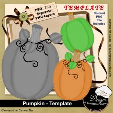 Pumpkin TEMPLATE by Boop Designs