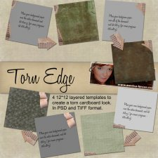 Torn Edge Templates by Monica Larsen