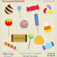 Sweet Holiday Candy Layered Element TEMPLATES
