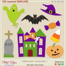 Halloween Layered TEMPLATES 1