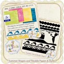 Summer Cutout Border Shapes EXCLUSIVE by PapierStudio Silke