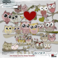 Owl Always Love You Simply Templates