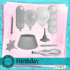 Birthday elements CU4CU by Happy Scrap Art