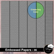 Embossed Pattern PAPERS 06 by Boop Designs