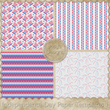 Independence Day Paper Layered Templates 1 by Josy