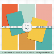 Preview template for 7x5 inch pocket scrapbooking cards