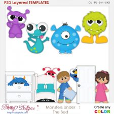 Monsters Under the Bed Layered Element Templates
