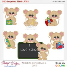 Back To School Mice Element Templates