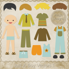 Just A Boy Layered Vector Templates by Josy