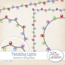 Twinkling Lights Templates by Kim Cameron