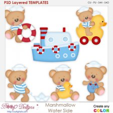 Marshmallow Water Side Layered Element Templates