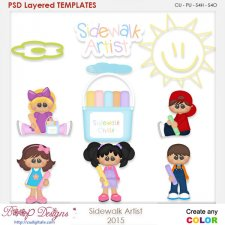 Sidwalk Artist Layered Element Templates