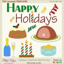 Holiday Christmas Meal Layered Element TEMPLATES