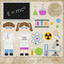 Science Class Layered Vector Templates by Josy