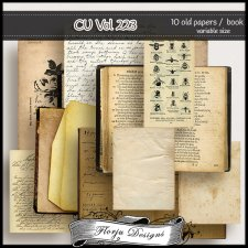 CU vol 223 old papers by Florju Designs