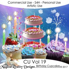 Birthday Cupcakes - CU Vol 19 by MagicalReality Designs