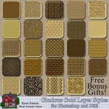 Glorious Gold Layer Styles by Karen Stimson