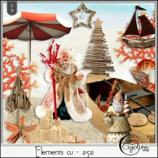 Elements CU - 252 Christmas at the beach 2 by Cajoline-Scrap