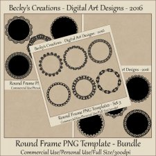 Round Frame PNG Templates Bundle PNG by Beckys Creations