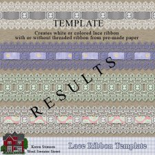 Lace Ribbon Template by Karen Stimson