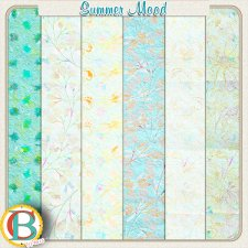 Summer Mood papers by Benthaicreations