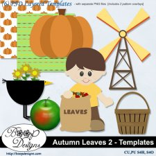 Autumn Leaves TEMPLATES set 2